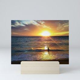 Sunset Sun Bathing by Reay of Light Photography Mini Art Print