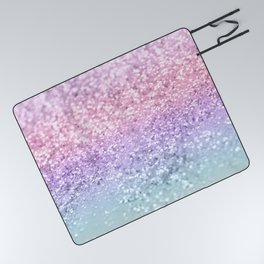 Unicorn Girls Glitter #1 #shiny #pastel #decor #art #society6 Picnic Blanket