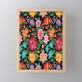 Floral Pattern from Oaxaca Framed Mini Art Print