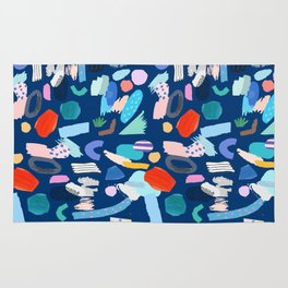 """""""Save The Earth"""" Colourful Contemporary Art Rug"""