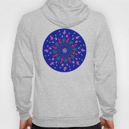 Blue & Pink Flower Mandala Hoody