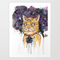space cat Art Prints featuring Space Cat by scoobtoobins