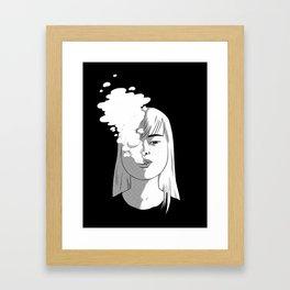 ssssmokin' Framed Art Print