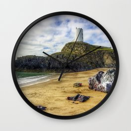 Llanddwyn Island Lighthouse Wall Clock