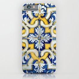 Portuguese blue tile iPhone Case