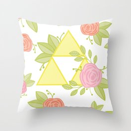 Garden of Power, Wisdom, and Courage Pattern Throw Pillow