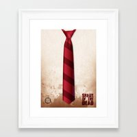 shaun of the dead Framed Art Prints featuring SHAUN OF THE DEAD by VineDesign