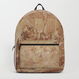 Anthony van Dyck - The Adoration of the Shepherds (grisaille) Backpack