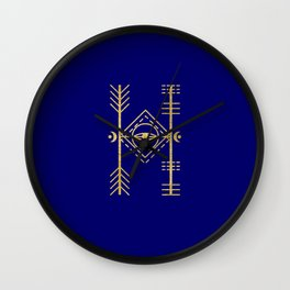 Sacred Geometry Letter H Wall Clock
