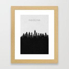 City Skylines: Philadelphia (Alternative) Framed Art Print