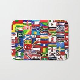 Sketchy World Flags Bath Mat