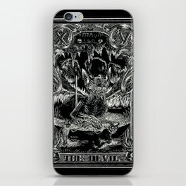 THE DEVIL of Tarot Cats iPhone Skin