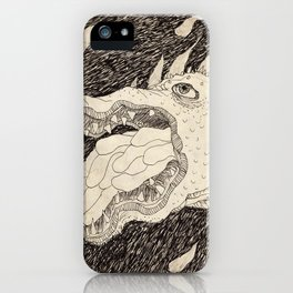 Hungover Space Dragon iPhone Case