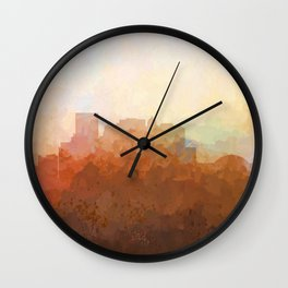 El Paso Texas Skyline - In the Clouds Wall Clock