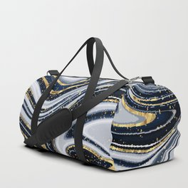 Grey,black and gold marble Duffle Bag