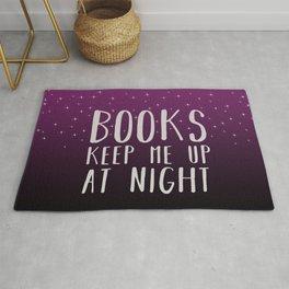 Books Keep Me Up At Night Purple - Stars Rug