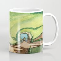 hobbit Mugs featuring The Hobbit by Emily