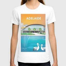 Adelaide, Australia - Skyline Illustration by Loose Petals T-shirt
