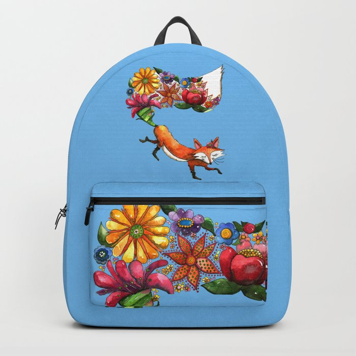 Hunt Flowers Not Foxes Backpack