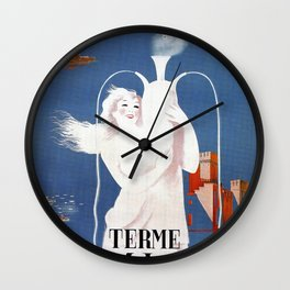 Sirmione Lake Garda travel Wall Clock
