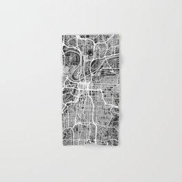 Kansas City Missouri City Map Hand & Bath Towel