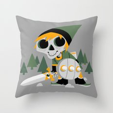 Skull Sword Guy Throw Pillow