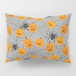 Hallween pumpkins spider pattern Pillow Sham