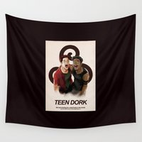teen wolf Wall Tapestries featuring Teen dork by larvecuivree
