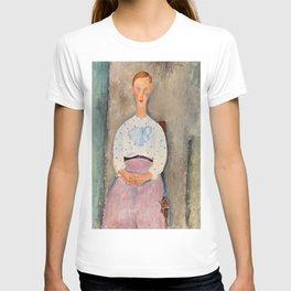 "Amedeo Modigliani ""Girl with a Polka-Dot Blouse (Jeune fille au corsage à pois)"" T-shirt"