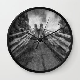 Conwy Suspension Bridge Wall Clock