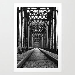 Get Off the Tracks Art Print