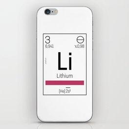 Lithium - chemical element iPhone Skin