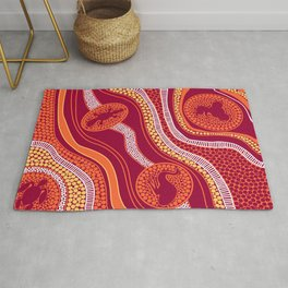 Authentic Aboriginal Art - Animals Rug