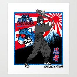 Sax Ninja Art Print