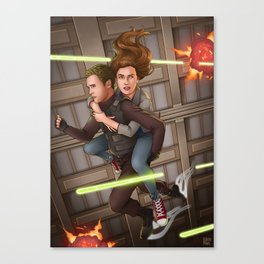 Fitzsimmons - Space Rollerblades Canvas Print