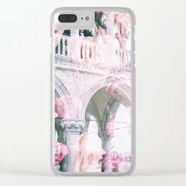 Floral In Venice Clear iPhone Case