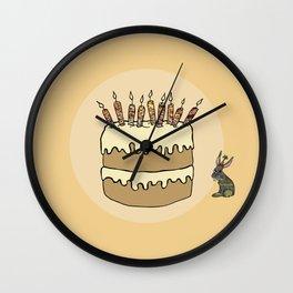 RABBIT CAKE Wall Clock