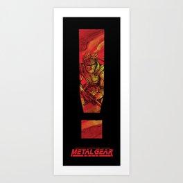Alert! Metal Gear Solid Art Print