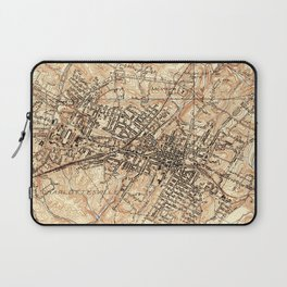 Vintage Map of Charlottesville Virginia (1960) Laptop Sleeve