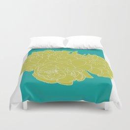 Floral Greens Duvet Cover
