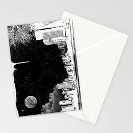 The city at night.. Stationery Cards