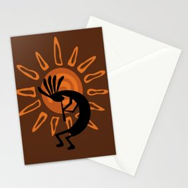 Rustic Brown Kokopelli Stationery Cards