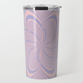 Whirly Bloom Fractal in Rose Quartz and Serenity Travel Mug
