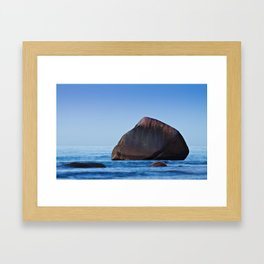 Rock on the Baltic Sea coast Framed Art Print