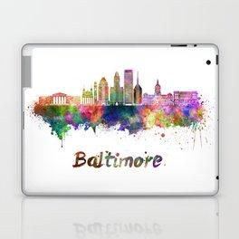 Baltimore skyline in watercolor Laptop & iPad Skin