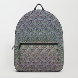 Silver Rainbow Mermaid Scales Backpack