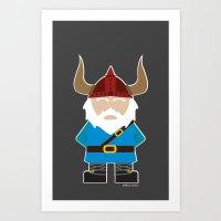 Viking Gnome Art Print