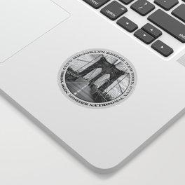 Brooklyn Bridge New York City (black & white with text) Sticker