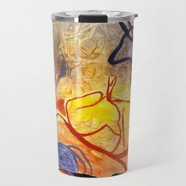 Blue Ribbon Sunset Travel Mug