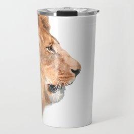 Lion Profile Travel Mug